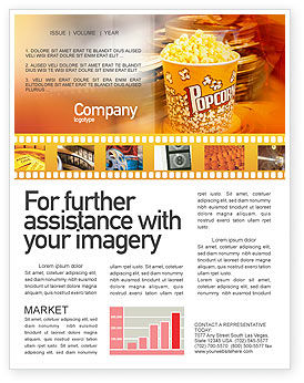 Popcorn Newsletter Template, 00962, Art & Entertainment — PoweredTemplate.com