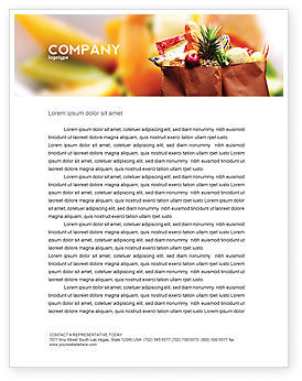 Food & Beverage: Grocery Bag Letterhead Template #00972