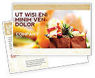 Food & Beverage: Grocery Bag Postcard Template #00972
