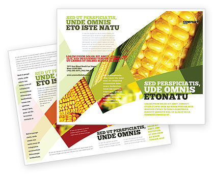 Maize Brochure Template, 00973, Food & Beverage — PoweredTemplate.com