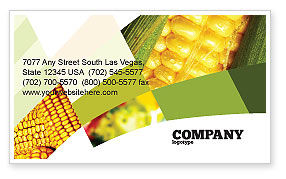 Maize Business Card Template, 00973, Food & Beverage — PoweredTemplate.com