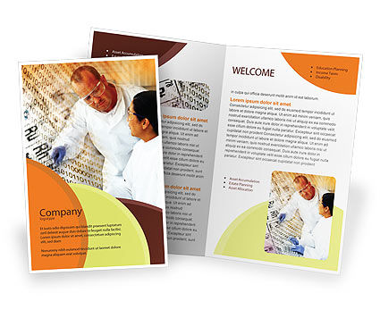 Technology, Science & Computers: Chemical Research Brochure Template #01028