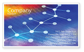 Technology, Science & Computers: Chemical Compound Business Card Template #01029
