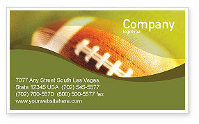 Sports: Ball Lacing Business Card Template #01254