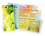 Food & Beverage: White Grape Brochure Template #01281