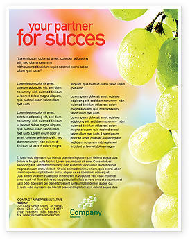 White Grape Flyer Template, 01281, Food & Beverage — PoweredTemplate.com