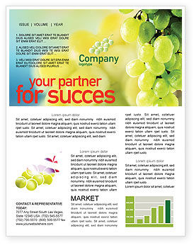 White Grape Newsletter Template, 01281, Food & Beverage — PoweredTemplate.com