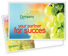 Food & Beverage: White Grape Postcard Template #01281