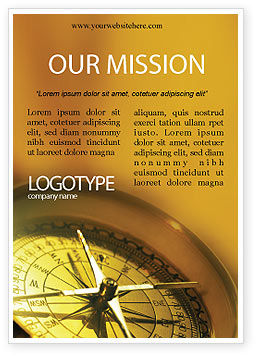 Business Concepts: Compass Ad Template #01284