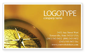Compass Business Card Template, 01284, Business Concepts — PoweredTemplate.com