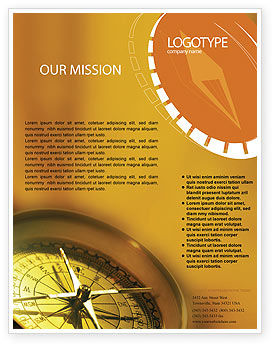 Business Concepts: Compass Flyer Template #01284