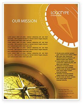 Compass Flyer Template, 01284, Business Concepts — PoweredTemplate.com