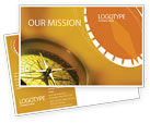 Business Concepts: Compass Postcard Template #01284