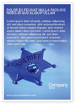 Sheriff Ad Template, 01285, Legal — PoweredTemplate.com