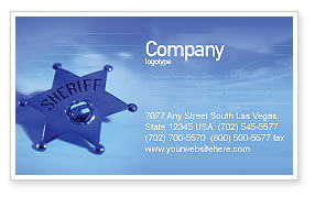 Legal: Sheriff Business Card Template #01285