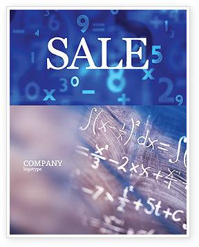 Education & Training: Higher Mathematics Sale Poster Template #01343