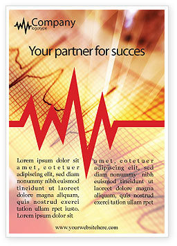 Medical: Cardiogram Ad Template #01359