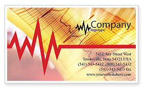 Cardiogram Business Card Template, 01359, Medical — PoweredTemplate.com
