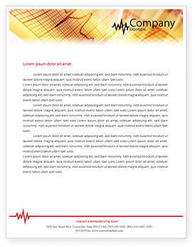 Medical: Cardiogram Letterhead Template #01359