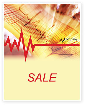Cardiogram Sale Poster Template, 01359, Medical — PoweredTemplate.com