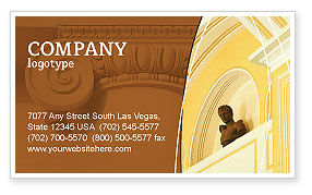 Art & Entertainment: Column Business Card Template #01393