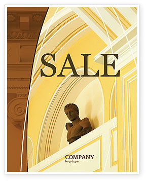 Column Sale Poster Template, 01393, Art & Entertainment — PoweredTemplate.com