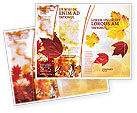 Nature & Environment: Falling Leaves In The Sunset Brochure Template #01454