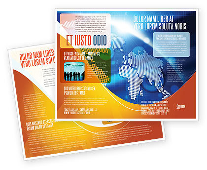 Global Technologies Brochure Template, 01456, Global — PoweredTemplate.com