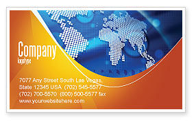 Global: Global Technologies Business Card Template #01456