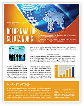 Global Technologies Newsletter Template, 01456, Global — PoweredTemplate.com