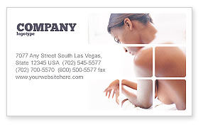Breast Cancer Business Card Template, 01459, Medical — PoweredTemplate.com