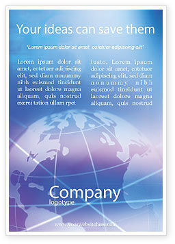 Global: Blue Earth Abstract Ad Template #01511