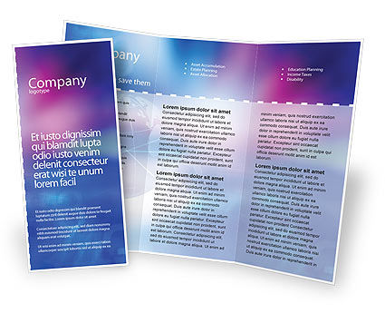 Global: Blue Earth Abstract Brochure Template #01511