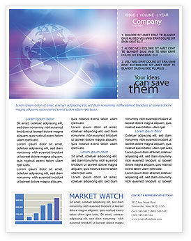 Global: Blue Earth Abstract Newsletter Template #01511