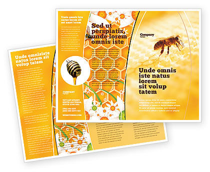 Wafers and Honey Brochure Template, 01518, Food & Beverage — PoweredTemplate.com
