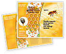 Food & Beverage: Wafers and Honey Brochure Template #01518