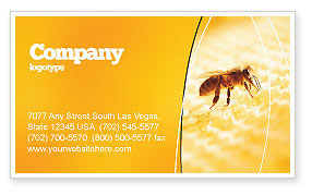 Wafers and Honey Business Card Template, 01518, Food & Beverage — PoweredTemplate.com