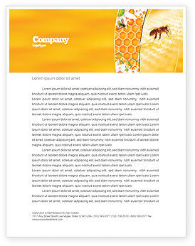 Food & Beverage: Wafers and Honey Letterhead Template #01518