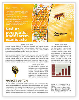 Food & Beverage: Wafers and Honey Newsletter Template #01518
