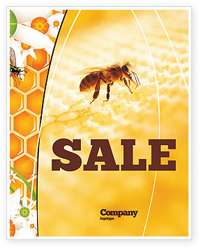 Food & Beverage: Wafers and Honey Sale Poster Template #01518