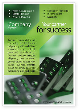 Business Concepts: Domino Ad Template #01521