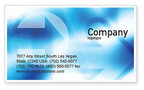 Way Business Card Template, 01526, Abstract/Textures — PoweredTemplate.com