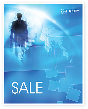 Businessman Sale Poster Template, 01534, Global — PoweredTemplate.com