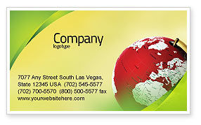 Terrestrial Globe Business Card Template, 01541, Global — PoweredTemplate.com