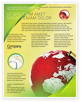 Terrestrial Globe Flyer Template, 01541, Global — PoweredTemplate.com