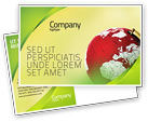 Global: Terrestrial Globe Postcard Template #01541
