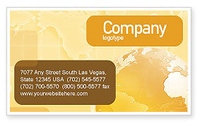 Global: Globe On The Pastel Background Business Card Template #01561