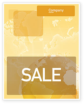 Globe On The Pastel Background Sale Poster Template, 01561, Global — PoweredTemplate.com