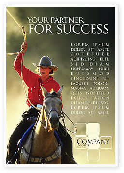 America: Cowboy Advertentie Template #01588