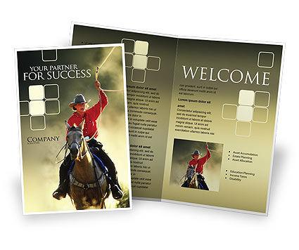 America: 牛仔宣传册模板 #01588